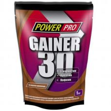Гейнер PowerPro Gainer 30 1000 г шоколад