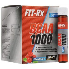 FIT-Rx BCAA 1000 20 ампул по 25 мл клюква