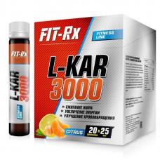 FIT-Rx L-Kar 3000 Box, 20 ампул по 25 мл, Citrus