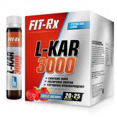 FIT-Rx L-Kar 3000 Box, 20 ампул по 25 мл, Wild Berry