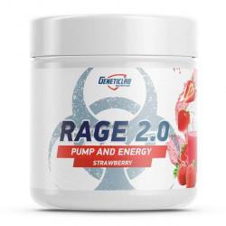 GeneticLab Nutrition Rage 2.0 Pump And Energy 240 г со вкусом клубники