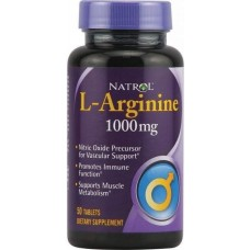 Natrol L-Arginine 1000 50 таблеток без вкуса