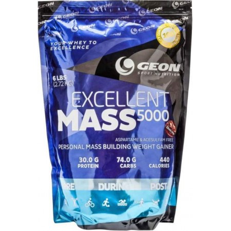 Гейнер Geon Excellent Mass 5000 2720 г шоколад
