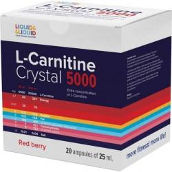 Liquid&Liquid L-Carnitine Crystal 5000, 20 ампул по 25 мл, Red berry