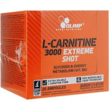 Olimp L-Carnitine 3000 Extreme Shot, 20 ампул по 25 мл, Orange