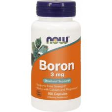 NOW Foods Boron 3 мг 100cap - 100 капс.