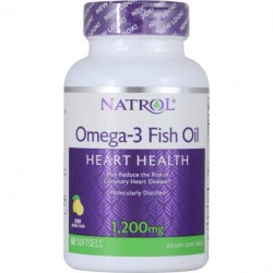Natrol Omega-3 Fish Oil 1200mg 60caps - 60 софтгелей