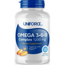 Uniforce Omega-3-6-9 Complex 1200mg 120cap - 120 капсул