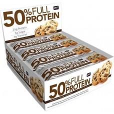 QNT 50% Full Protein Bar Box 12 x 50g - 12 шт., Шоколадное печенье