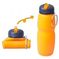 Бутылка для воды AceCamp Squeezable Silicone Bottle with Nozzle 0.7L складная 1544-orange