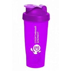 Шейкер Спортивный элемент S01 600 мл фиолетовый