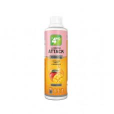 4Me Nutrition L-Carnitine + Guarana Attack 3600, 500 мл, Mango - Pear