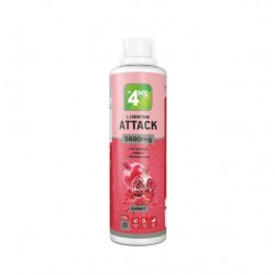 4Me Nutrition L-Carnitine + Guarana Attack 3600, 500 мл, Garnet