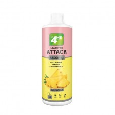 4Me Nutrition L-Carnitine + Guarana Attack 3600, 1000 мл, Pineapple