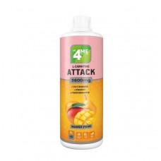 4Me Nutrition L-Carnitine + Guarana Attack 3600, 1000 мл, Mango - Pear