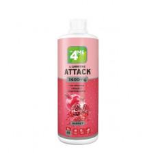 4Me Nutrition L-Carnitine + Guarana Attack 3600, 1000 мл, Garnet