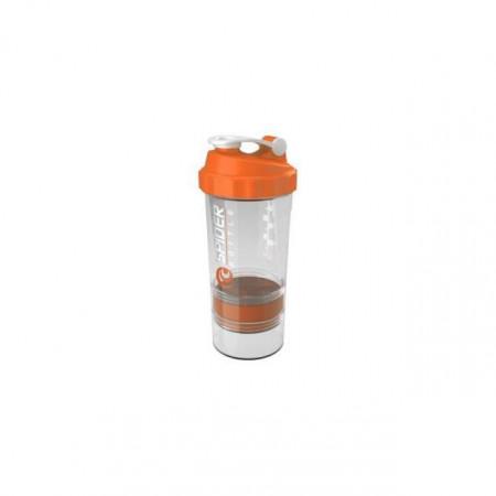 Gsi Шейкер Spider Bottle Maxi2Go 2 отсека 600 мл прозрачный/оранжевый