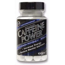 Hi-Tech Pharmaceuticals Caffeine Power 200 мг 100 таблеток