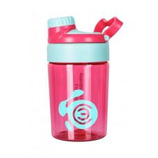 Бутылка для воды с ручкой Спортивный Элемент, 400 мл, ярко-розовый
