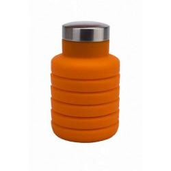 """Бутылка """"Bradex"""" для воды силиконовая складная с крышкой, 500 мл, цвет: оранжевый"""