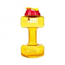 "Бутылка ""Гантеля"", V=2.2 л, цвет: желтый"