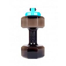 """Бутылка """"Гантеля"""", V=2.2 л, цвет: черный"""