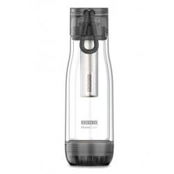 """Бутылка с ёмкостью для заваривания """"Zoku"""", 475 мл, цвет: черный"""