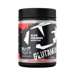 Alex Fedorov Nutrition Glutamine +ISC, 300 г, вкус: черная смородина