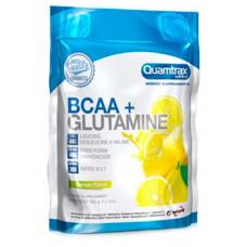 Quamtrax Nutrition Аминокислоты BCAA 2:1:1 + Glutamine Powder, 500 г, вкус: лимон