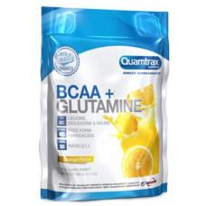 Quamtrax Nutrition Аминокислоты BCAA 2:1:1 + Glutamine Powder, 500 г, вкус: апельсин