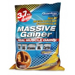 Quamtrax Nutrition Гейнер Massive Gainer, 3700 г, вкус: шоколад