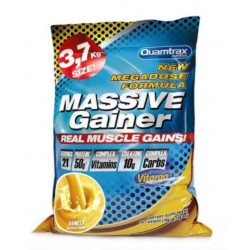 Quamtrax Nutrition Гейнер Massive Gainer, 3700 г, вкус: ваниль