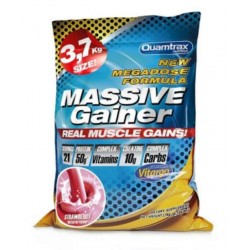 Quamtrax Nutrition Гейнер Massive Gainer, 3700 г, вкус: клубника