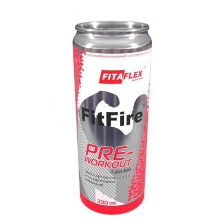 FitaFlex FitFire PRE-workout 1-shot drink, 330 мл, вкус: розовый лимонад