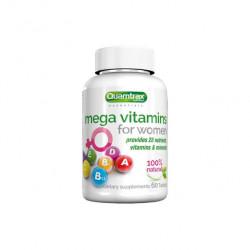 Quamtrax Nutrition Витаминно-минеральный комплекс Mega Vitamins for Women, 60 таб