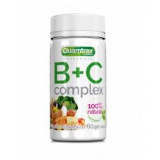 Quamtrax Nutrition Комплекс витаминов B+C Complex, 60 капс