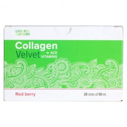 Liquid & Liquid Collagen Velvet + ACE Red berry, 20 шт, вкус: красная ягода