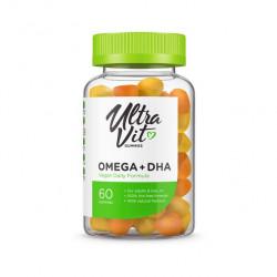 UltraVit Omega + DHA Gummies, 60 таб, вкус: апельсин-лимон