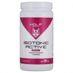 WOLFSPORT Isotonic Active, 600 г, вкус: вишня