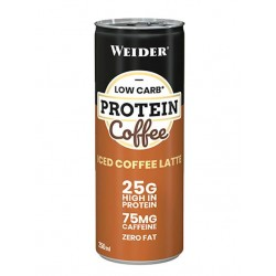 Weider Low Carb Protein Coffee, 250 мл, вкус: ледяной латте