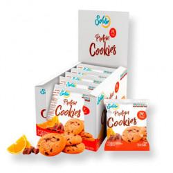 Solvie Протеиновое печенье Solvie 50 г, 10 шт, вкус: апельсиновое с шоколадными чипсами