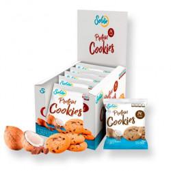 Solvie Протеиновое печенье Solvie 50 г, 10 шт, вкус: кокосовое с шоколадными чипсами