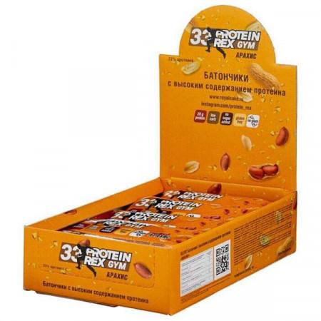 ProteinRex Батончики 33% ProteinRex GYM 60 г, 15 шт, вкус: арахис