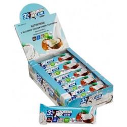 ProteinRex Батончики 33% ProteinRex GYM 60 г, 15 шт, вкус: кокос