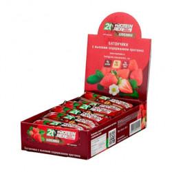 ProteinRex Батончики 22% ProteinRex Fruit Energy 40 г, 18 шт, вкус: клубника