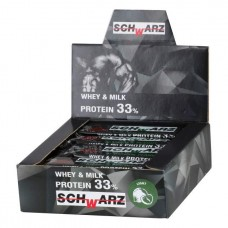 Протеиновые батончики Формула Жизни SchWarz 33%, 12 шт, миндаль и арахис без глазури