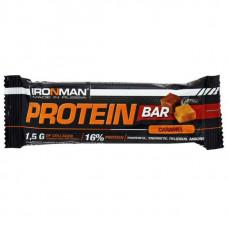 IronMan Батончики Protein Bar 50 г, 24 шт, вкус: карамель-темная глазурь