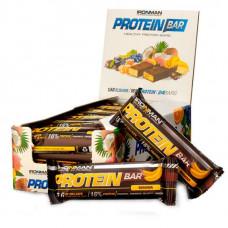 IronMan Батончики Protein Bar 50 г, 24 шт, вкус: банан-темная глазурь