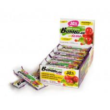 BOMBBAR Батончики Bombbar Slim 35 г, 30 шт, вкус: гуарана, клюква и ягоды годжи