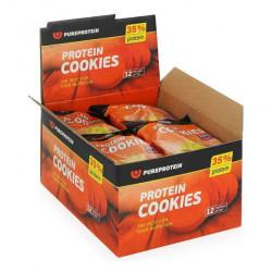 PureProtein Высокобелковое печенье Protein Cookies 80 г, 12 шт, вкус: банан-арахис